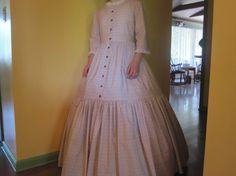 1840 Pioneer Clothing | Custom Order Women's or Girls' 1840/Civil War/Pioneer Two Tier Dress