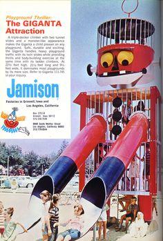 Jamison Giganta playground structure ad, Parks and Recreation, Jun 1971
