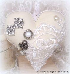 shabby chic heart.... https://www.facebook.com/HandmadeKeepsakeRagDolls?ref=bookmarks