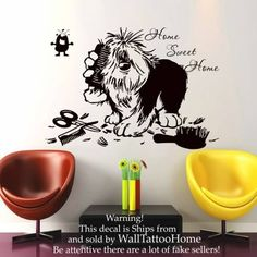 Wall Decals Home Swit Home Quote Decal Vinyl Sticker Dog Flea Scissors Comb Petshop Grooming Salon Home Decor Art Mural US13 *** Check out this great product.