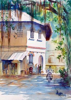 Milind Mulick watercolor - Cerca amb Google