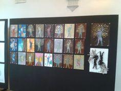 """""""Man/Food/Energy"""", classi 2A,1A,1B,1C Liceo artistico Stagi - mostra in Palazzo Moroni a Pietrasanta, fino al 2 giugno 2015. Bozzetti per lo sfondo."""