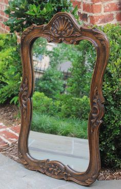 Beautiful Antique French Country Style Carved Oak Acanthus & Shell Frame. ~~~A wonderful antique French highly carved oak framed wall mirror~~~just in from our recent French container. Gorgeous frame with shell, floral and acanthus accents. | eBay!