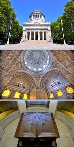 General Grant National Monument is the final resting place of Ulysses S. Grant (1822–1885), the 18th President of the United States, & wife, Julia Dent Grant (1826–1902). Funded by donation & completed in 1897, it's located in Riverside Park, New York City, under the management of the National Park Service in 1958. The twin red granite sarcophagi of Grant & his wife are based on the sarcophagus of Napoleon. It is the largest mausoleum in the U.S. http://www.thefuneralsource.org/trad0901.html