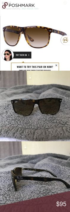 Ray Ban Boyfriend Sunnies RB4147 Bought these back in 2013. Haven't worn them since 2015. Worn a handful of times. In good condition. Comes with original ray ban case. 100% authentic. Ray-Ban Accessories Sunglasses
