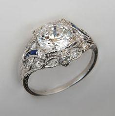 platinum antique engagement ring alexanders jewelry and coin investors huntsville alabama - Estate Wedding Rings