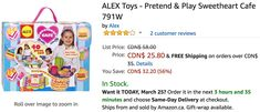 Amazon Canada Deals: Save 56% on ALEX Toys  50% on Monopoly Empire  33% on Step2 Roller Coaster Toy https://www.lavahotdeals.com/ca/cheap/amazon-canada-deals-save-56-alex-toys-50/319174?utm_source=pinterest&utm_medium=rss&utm_campaign=at_lavahotdeals&utm_term=hottest_12
