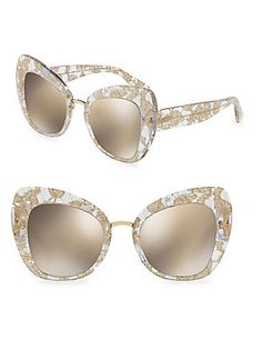 7cebc1bf287 Dolce Gabbana Oversized Floral Cat Eye Sunglasses and other apparel ...