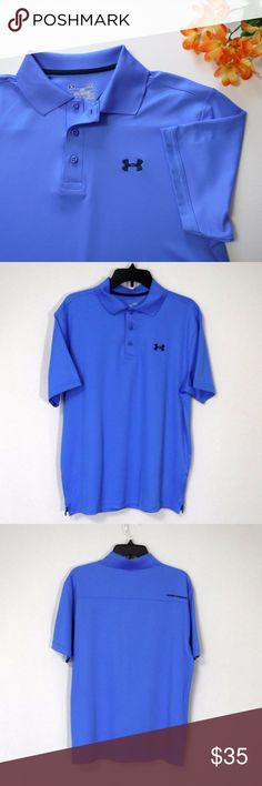 "NWOT Under Armour Heat Gear Golf Polo Size LG Under Armour Heat Gear Golf Polo Size LG  Loose Cut Rib Knit Collar Body: 5.4 oz. 95% Polyester/5% Elastane Collar: 100% Polyester  New With Out Tag  All Measurements Posted Below are Aprox. & Taken While Laying Flat  Shoulders:19"" Under Arms/Chest:20""(40) Length:28""  Please Ask Any Questions You may Have Before Purchasing.  Smoke & Pet Free Home  Please Check Out My Other Items  Inv#410 Under Armour Shirts Polos"