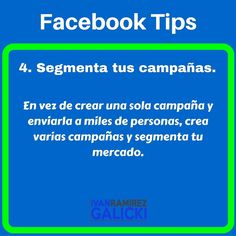 4. Segmenta tus campañas.  En vez de crear una sola campaña y enviarla a miles de personas crea varias campañas y segmenta tu mercado.  Si quieres saber más... dale clic aquí y mira el video: http://ift.tt/1SrQ6lC  #ivangalicki #Marketing #marketingdigital #negocios #negocio #negociopropio #negocioindependiente #emprendedor #emprendedores #internetmarketing #networkmarketing #multinivel #dinero #dineroextra #libertadfinanciera #exito #exitos #estilodevida #motivacion #mercadeo #mercadeoenred…