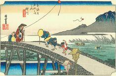 Hiroshige27 kakegawa - 東海道五十三次 (浮世絵) - Wikipedia
