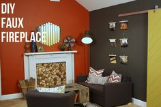 10 Wise Cool Tips: Fireplace Bookshelves fireplace seating nook.Gas Fireplace Built Ins double sided fireplace porch.Traditional Fireplace With Hearth. Brick Fireplace Decor, Craftsman Fireplace, Cottage Fireplace, Fireplace Seating, Fireplace Bookshelves, Paint Fireplace, Fireplace Cover, Rustic Fireplaces, Faux Fireplace