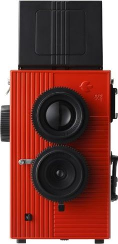 Blackbird Fly, 35mm TLR Twin Lens Reflex Camera - Black with Red Face