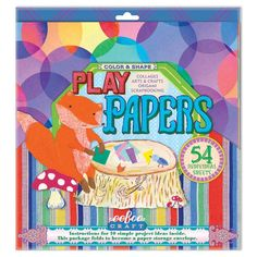 Colors and Shapes Play Papers | eeBoo