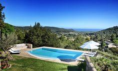 Infinity pool in Ibiza countryside