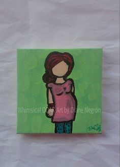 Maternity art pregnancy painting pregnant by WhimsicalOOAKArt