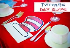 Dr. Seuss Thing One Thing Two Baby Shower