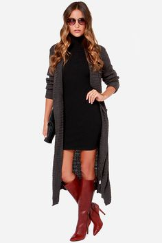 Wanted Thread or Alive Grey Oversized Sweater at Lulus.com!