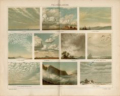 CLOUDS, their PHYSICAL FORMS Antique lithograph from 1894 by OjiochaPrints on Etsy Antique Maps, One Pic, Physics, Clouds, Antiques, Illustration, Prints, Pictures, Painting