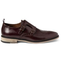 AMI Leather Double Monk-Strap Brogues | MR PORTER