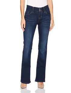 7b6577a244aba6 Riders by Lee Indigo Women s Pull on Waist Smoother Bootcut Jean, Dark  Wash, ...
