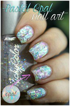 Opal Nail Art Using RickyColor Pastel Opal Nail Polishes