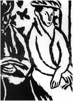 """Vanessa Bell, 3rd of oven woodcuts for Virginia Woolf's  """"Monday or Tuesday,"""" 1921"""