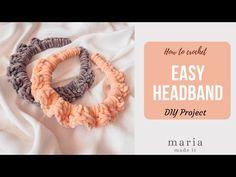 Εύκολη Πλεκτή Στέκα για τα Μαλλιά. - YouTube Textiles Techniques, Easy Crochet, Free Pattern, Crochet Necklace, How To Make, Youtube, Diy, Amigurumi, Bricolage