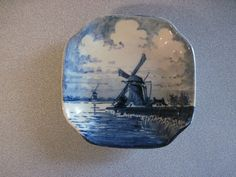 Vintage Blue Delft Handpainted Dish Made in Holland | eBay