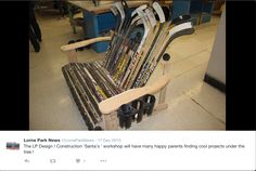 This is a screenshot of the Wood Shop class from my high school! Since I still follow my high school on Twitter, I stumbled across this! This is EXACTLY what Professor Lane was talking about - Passion-Based-Projects! Students have the option to take Woodshop as a technology credit, and can make whatever they want! This student decided to make a bench out of Hockey sticks! This is a great way to reuse objects and make it personal & unique!!