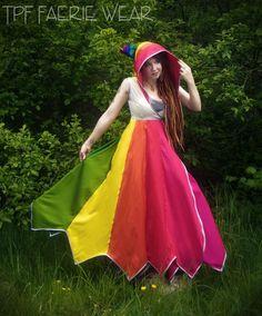 TPF Faeriewear's Rainbow Wedding Dress in silk (https://www.facebook.com/tpffw)
