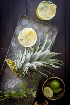 Pineapple and Cilantro Moscow Mule recipe by @beardandbonnet {www.beardandbonnet.com} #drinkthesummer