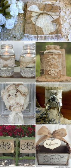 Burlap Wedding Ideas http://weddite.com/