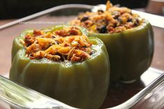 A great twist of stuffed peppers! Mexican peppers - I substitute lean ground turkey seasoned with chili powder for the chorizo. Ground Turkey Seasoning, Cooking Peppers, Veggie Sausage, Tasty, Yummy Food, Dinner Entrees, Food Tasting, Roasted Peppers, Pinto Beans