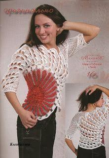 Parçalı dantel bluz ve şeması ~ DANTELMODELLER