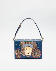 LUCIA BAG IN LEATHER WITH APPLIQUÉS