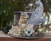 Steampunk Mini Top Hat - Alice in Wonderland - Party Top Hat - Steampunk Hat. $35.00, via Etsy.