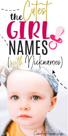 Unique Baby Girl Names With Cute Nicknames A list of the beautiful baby girl names with cute nicknames to match! Find the perfect unique baby girl name with a nickname you'll love. There's a mix of un Cool Baby Girl Names, Beautiful Baby Girl Names, Strong Baby Names, Modern Baby Names, Rare Baby Names, Unisex Baby Names, Unique Girl Names, Boy Names, Hispanic Baby Names