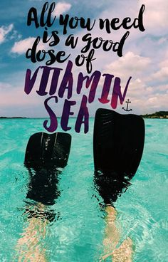 All you Need is a Good Dose of Vitamin Sea // Travel Quote Phone Case @seattlestravels