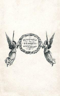 365blanc: cabinet cards, vintage angels