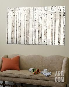 Birch Trees on White Loft Art by Avery Tillmon at Art.com