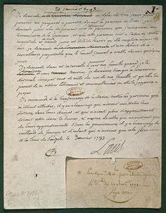 Dernière lettre de Louis XVI à la Convention avant son exécution le 21 janvier…