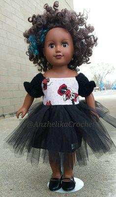 Disney Minnie American Girl Puppe Tutu Kleid / von AnzhelikaCrochet