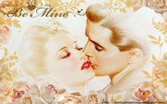 BE MINE-valentine´s day vintage digital collage