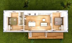12 Ideas container house plans for 2 bedroom 40 foot container home. Nice but I would shift . 12 Ideas container house plans for 2 bedroom 40 foot container home. Nice but I would shift . Prefab Container Homes, Shipping Container Home Designs, Building A Container Home, Container Buildings, Container Architecture, Shipping Containers, Container Houses, House Architecture, Shipping Container Cabin