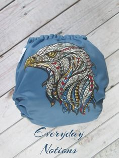 A personal favorite from my Etsy shop https://www.etsy.com/listing/505927141/cloth-diaper-free-bird-american-eagle