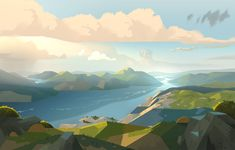 Colin Bigelow - Google Search Nature Water, Tandem, Airplane View, Rio, Environment, Animation, Painting, Drawings, Illustration
