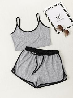 Co-Ords, Women's Suits, Two Piece Outfits & Matching Sets Cute Lazy Outfits, Teenage Girl Outfits, Chill Outfits, Girls Fashion Clothes, Outfits For Teens, Fashion Outfits, Edgy Outfits, Cute Pajama Sets, Cute Pajamas