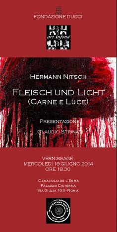Hermann Nitsch Fondazione Ducci Roma