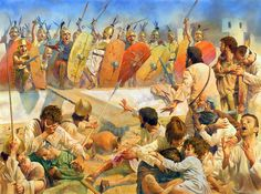 Street fighting, Carthage 146 BC - art by Steve Noon